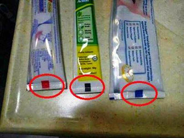 as classificações das pastas de dente