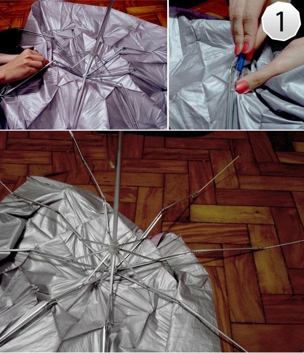 Como fazer Almofadas com Guarda-Chuvas Reciclados