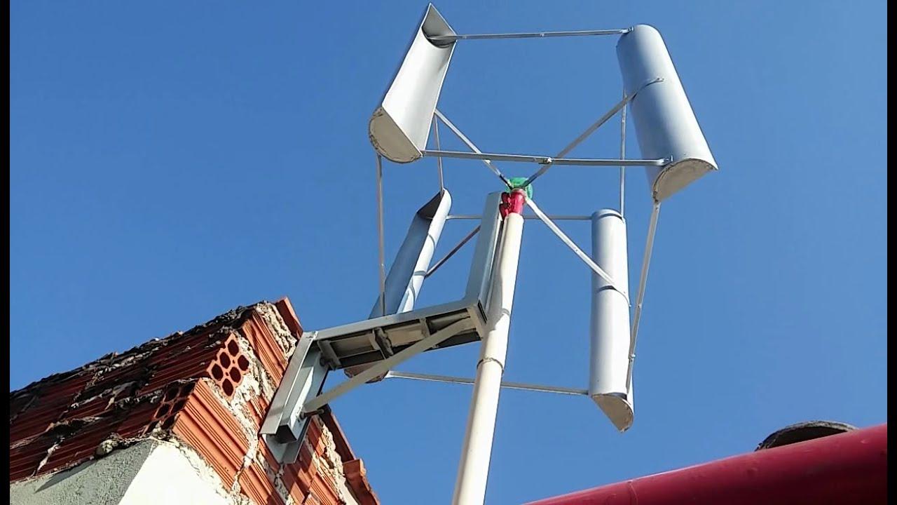Como construir um Gerador Eólico com eixo Vertical e Pás de PVC