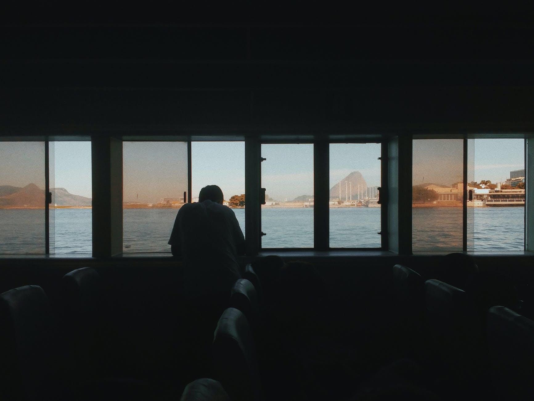 light sea dawn sunset